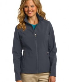 Port Authority L317 Ladies Core Soft Shell Jacket Battleship Grey
