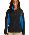 Port Authority L318 Ladies Core Colorblock Soft Shell Jacket Black/Imperial Blue