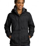 Port Authority L320 Ladies Brushstroke Print Insulated Jacket Black