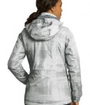 Port Authority L320 Ladies Brushstroke Print Insulated Jacket White Back