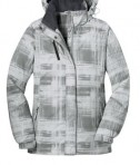 Port Authority L320 Ladies Brushstroke Print Insulated Jacket White Flat