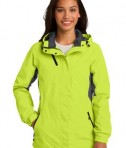 Port Authority L322 Ladies Cascade Waterproof Jacket Charge Green/Magnetic Grey
