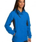 Port Authority L322 Ladies Cascade Waterproof Jacket Imperial Blue/Black Angle