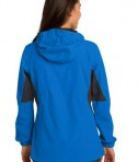 Port Authority L322 Ladies Cascade Waterproof Jacket Imperial Blue/Black Back