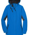 Port Authority L322 Ladies Cascade Waterproof Jacket Imperial Blue/Black Flat