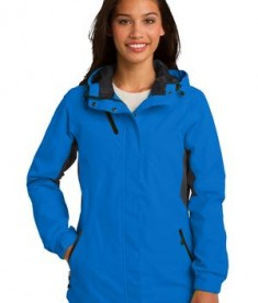Port Authority L322 Ladies Cascade Waterproof Jacket Imperial Blue/Black