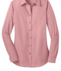 Port Authority L653 Ladies Chambray Shirt Barn Red Flat