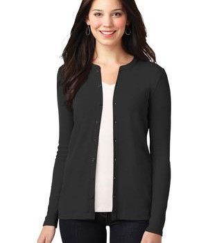 Port Authority Ladies Concept Stretch Button-Front Cardigan Style LM1008 1