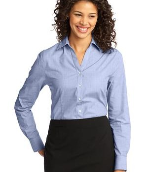 Port Authority Ladies Crosshatch Easy Care Shirt Style L640 1