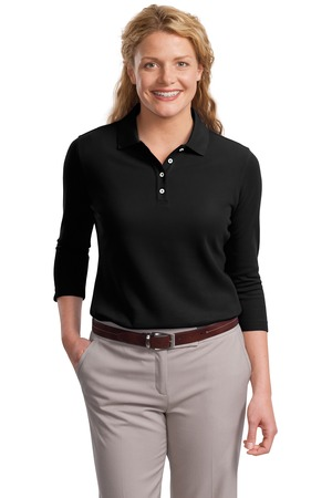 Port Authority Ladies EZCotton Pique 3/4-Sleeve Polo Style L801