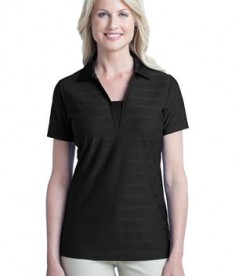 Port Authority Ladies Horizontal Texture Polo Style L514