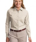 Port Authority Ladies Long Sleeve Easy Care  Soil Resistant Shirt Style L607