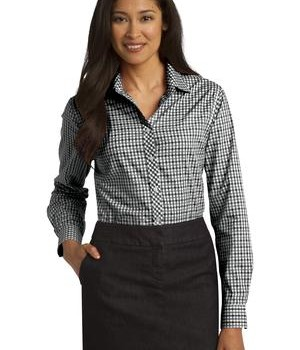 Port Authority Ladies Long Sleeve Gingham Easy Care Shirt Style L654 1