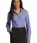 Port Authority Ladies Long Sleeve Gingham Easy Care Shirt Style L654