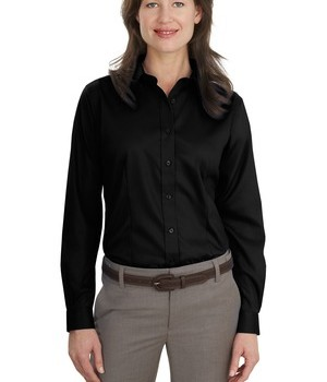 Port Authority Ladies Long Sleeve Non-Iron Twill Shirt Style L638 1