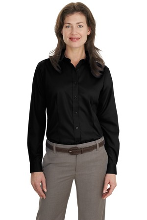 Port Authority Ladies Long Sleeve Non-Iron Twill Shirt Style L638