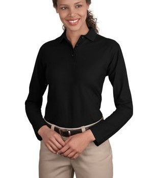 Port Authority Ladies Long Sleeve Silk Touch Polo Style L500LS 1