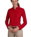 Port Authority Ladies Long Sleeve Silk Touch Polo Style L500LS
