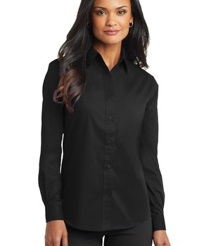 Port Authority Ladies Long Sleeve Value Poplin Shirt Style L632 1