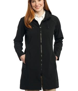 Port Authority Ladies Long Textured Hooded Soft Shell Jacket Style L306 1