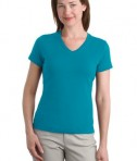 Port Authority Ladies Modern Stretch Cotton V-Neck Shirt Style L516V