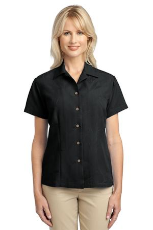 Port Authority Ladies Patterned Easy Care Camp Shirt Style L536