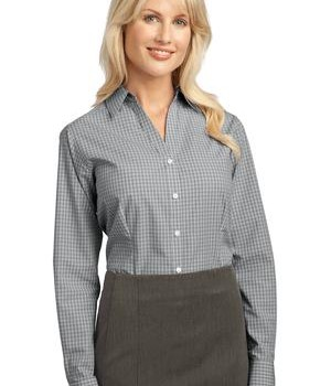 Port Authority Ladies Plaid Pattern Easy Care Shirt Style L639 1