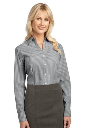 Port Authority Ladies Plaid Pattern Easy Care Shirt Style L639