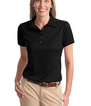 Port Authority Ladies Poly-Bamboo Charcoal Birdseye Jacquard Polo Style L498 1