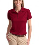 Port Authority Ladies Poly-Bamboo Charcoal Birdseye Jacquard Polo Style L498