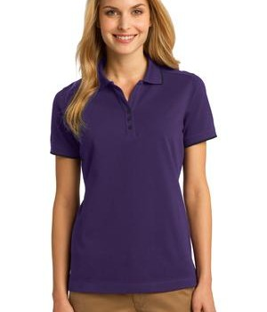Port Authority Ladies Rapid Dry Tipped Polo Style L454 1