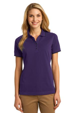 Port Authority Ladies Rapid Dry Tipped Polo Style L454