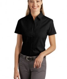 Port Authority Ladies Short Sleeve Easy Care  Soil Resistant Shirt Style L507