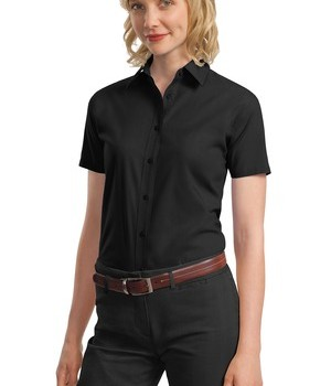 Port Authority Ladies Short Sleeve Value Poplin Shirt Style L633 1