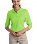 Port Authority Ladies Silk Touch 3/4-Sleeve Polo Style L562