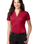 Port Authority Ladies Silk Touch Performance Colorblock Stripe Polo Style L547