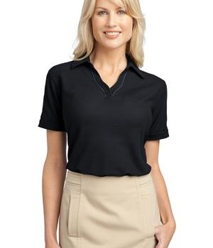 Port Authority Ladies Silk Touch Piped Polo Style L502 1