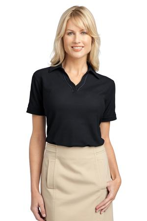 Port Authority Ladies Silk Touch Piped Polo Style L502