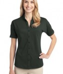 Port Authority Ladies Stretch Pique Button-Front Shirt Style L556