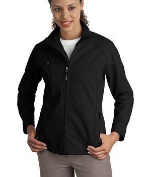 Port Authority Ladies Textured Soft Shell Jacket Style L705 1