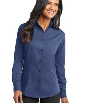 Port Authority Ladies Tonal Pattern Easy Care Shirt Style L613 1