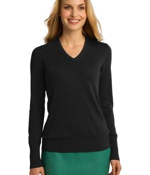 Port Authority Ladies V-Neck Sweater Style LSW285 1