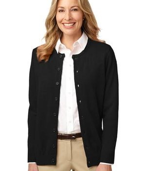 Port Authority Ladies Value Jewel-Neck Cardigan Style LSW304 1