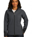 Port Authority Ladies Vertical Hooded Soft Shell Jacket Style L319