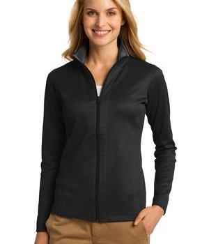 Port Authority Ladies Vertical Texture Full-Zip Jacket Style L805 1