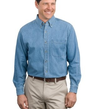Port Authority Long Sleeve Denim Shirt Style S600 1