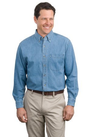 Port Authority Long Sleeve Denim Shirt Style S600