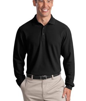 Port Authority Long Sleeve EZCotton Pique Polo Style K800LS 1