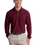 Port Authority Long Sleeve EZCotton Pique Polo Style K800LS