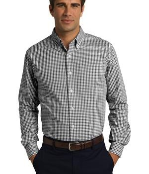 Port Authority Long Sleeve Gingham Easy Care Shirt Style S654 1